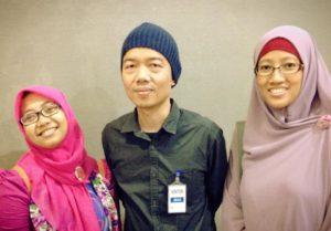 Foto bersama dengan Tere Liye (Halal bil Halal 2014 Gramedia Group)